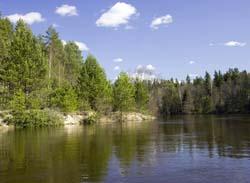 течение реки реки керженец